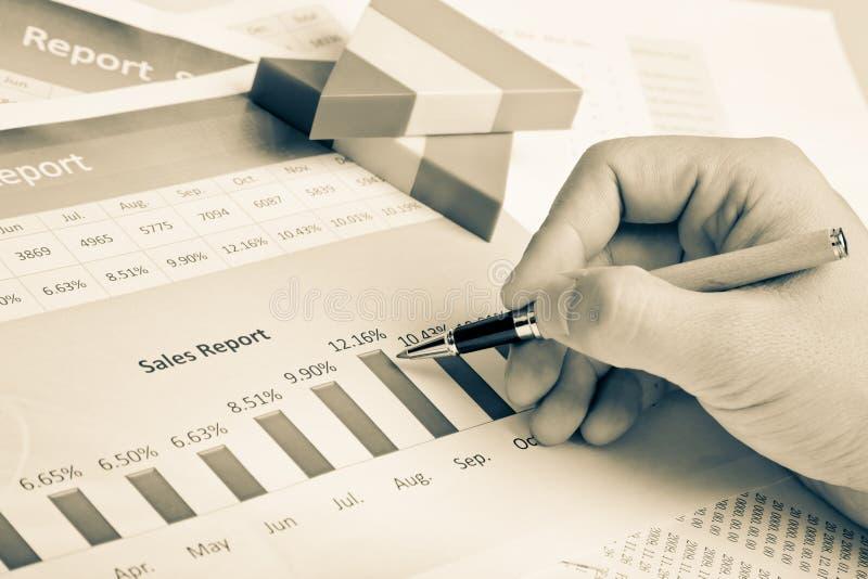 Análise financeira imagens de stock