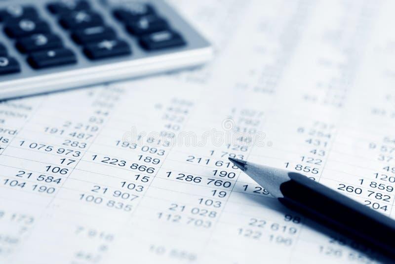 Análise financeira. imagem de stock
