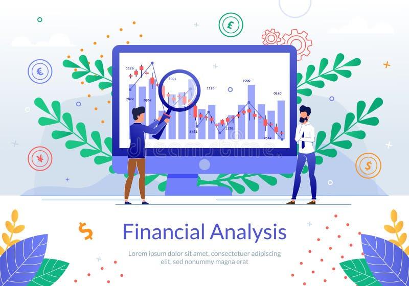 Análise financeira da bandeira do vetor do crescimento da empresa ilustração stock