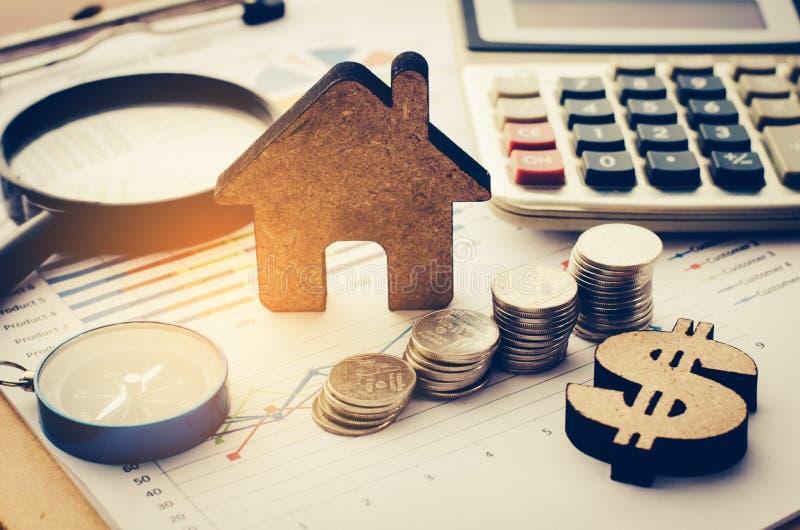 Análise financeira de planeamento financeiro do negócio para Gro incorporado imagem de stock