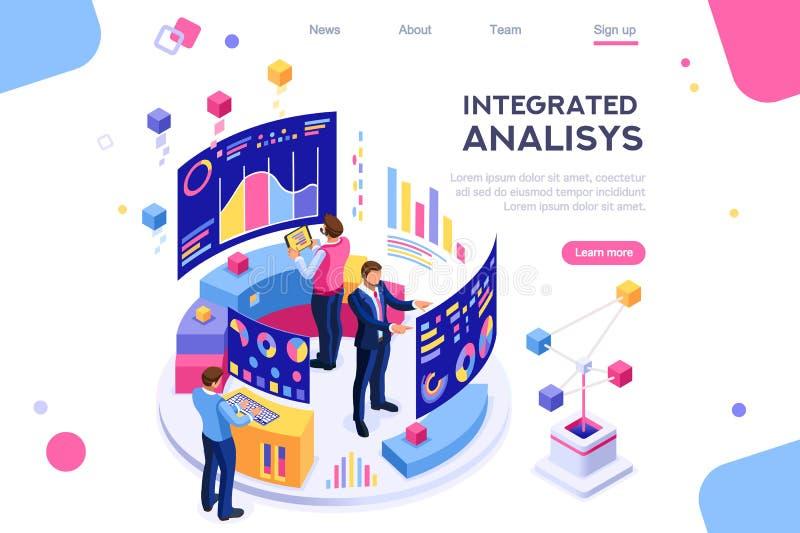 Análise interativa de Visualizzation da carta da gestão ilustração stock