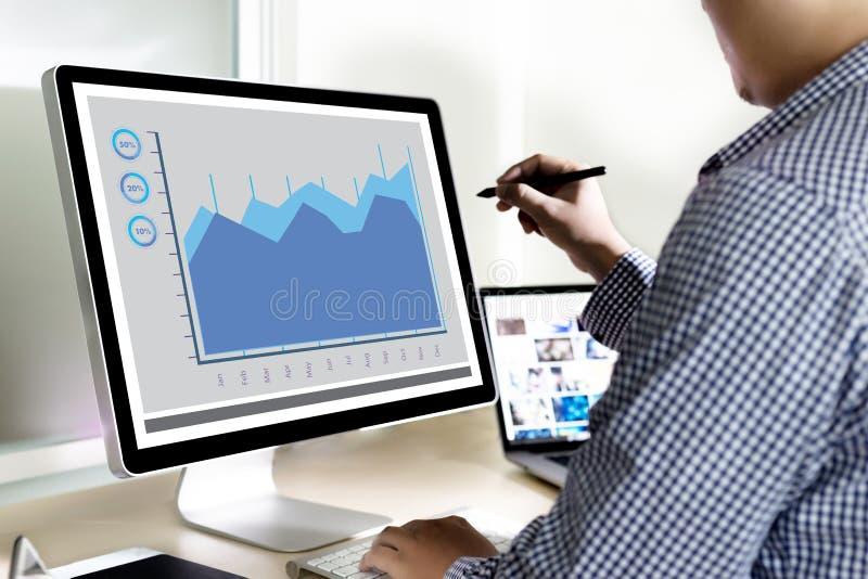 Análise o negócio Team Investment Entrepreneur Trad do mercado imagens de stock