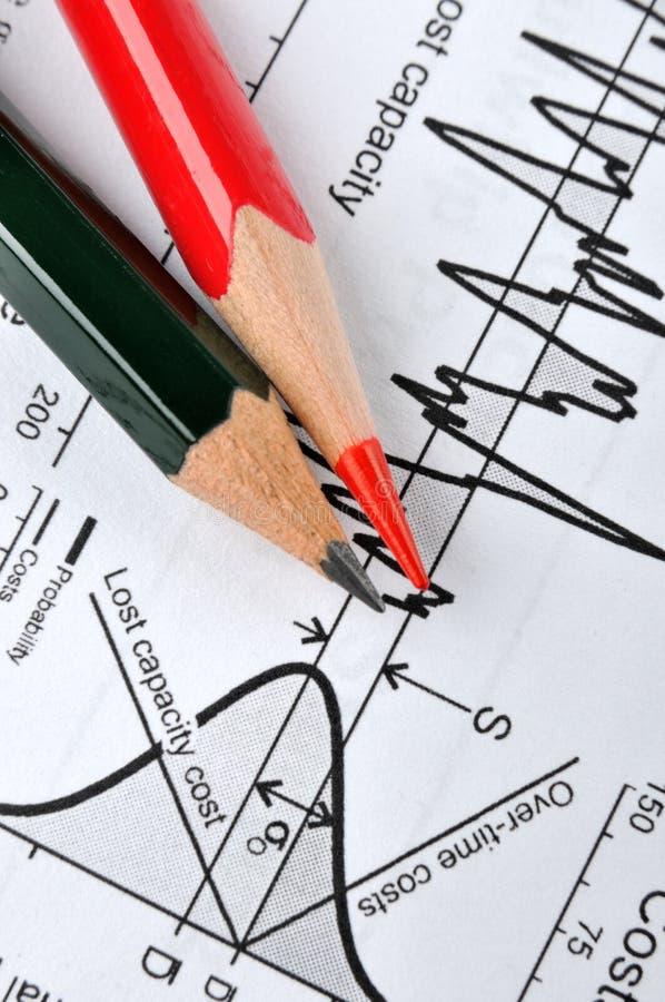 Análise para a carta estatística imagem de stock