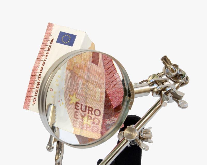 Análisis de cuentas europeas imágenes de archivo libres de regalías