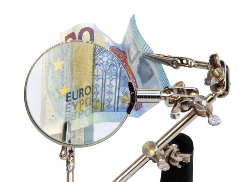 Análisis de cuentas europeas imagen de archivo libre de regalías