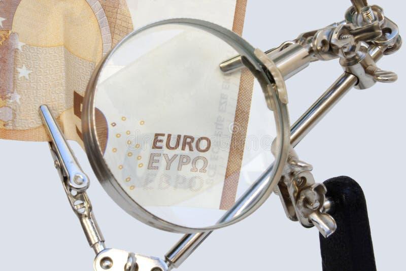 Análisis de cuentas europeas fotos de archivo