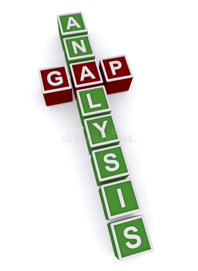Análisis de Gap ilustración del vector