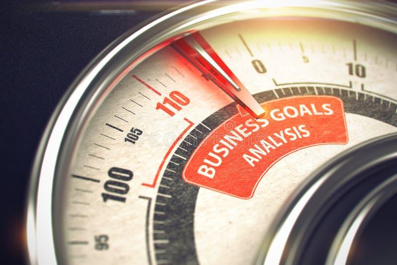 Análisis de las metas de negocio - concepto del modo del negocio 3d imagenes de archivo