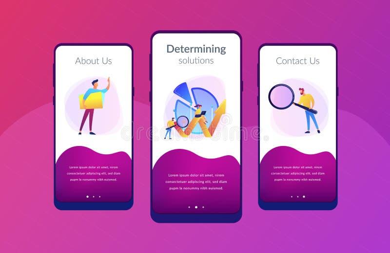 Análisis de negocio él plantilla del interfaz del app stock de ilustración