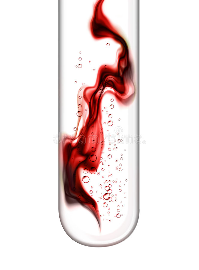 Análisis de sangre stock de ilustración