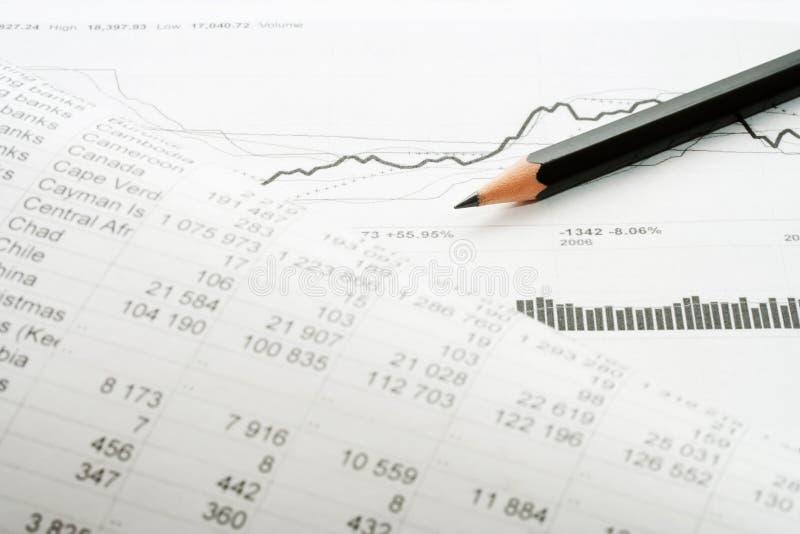 Análisis financiero. foto de archivo libre de regalías