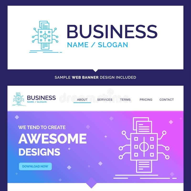 Análisis hermoso de la marca del concepto del negocio, datos, dato, favorable stock de ilustración
