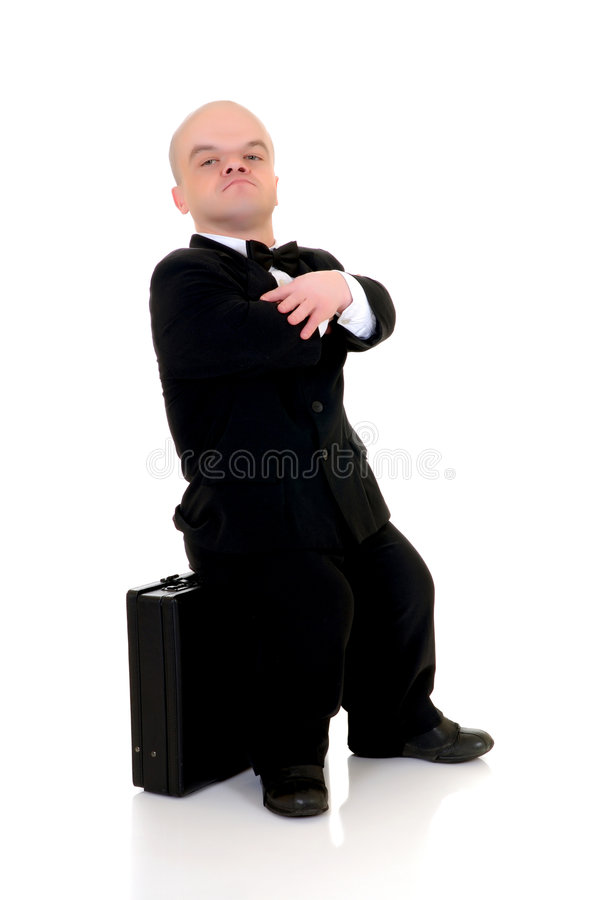 Anão, homem de negócios pequeno imagens de stock royalty free