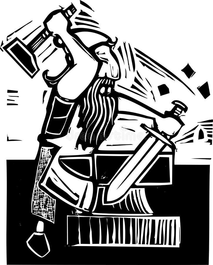 Anão Smith ilustração royalty free
