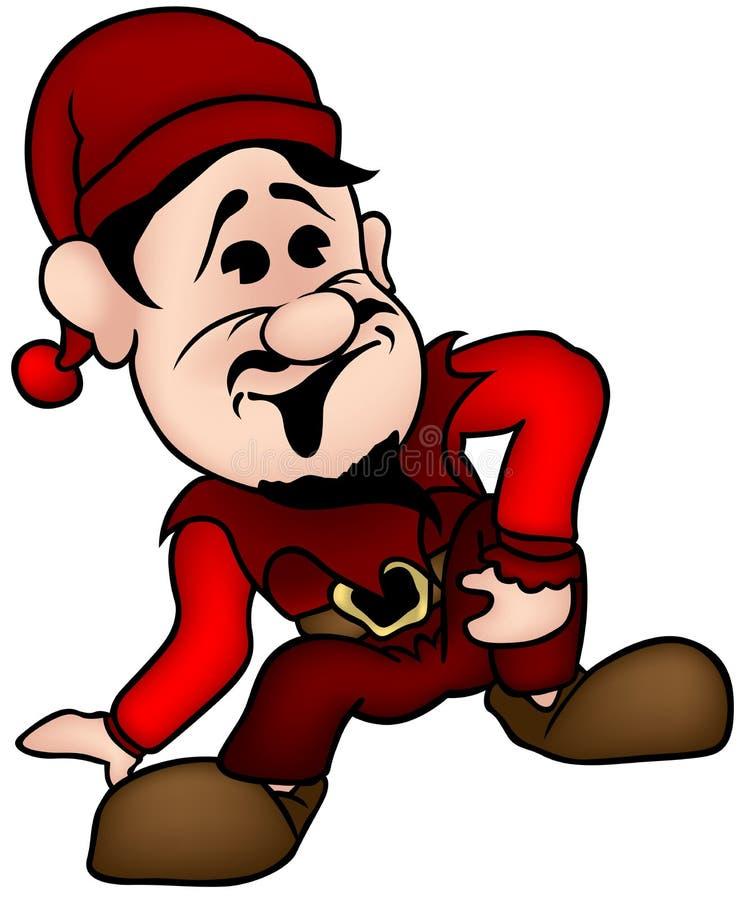 Anão vermelho ilustração do vetor