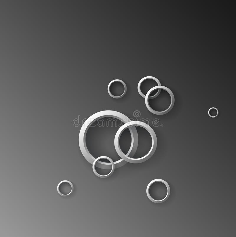 Anéis ilustração stock