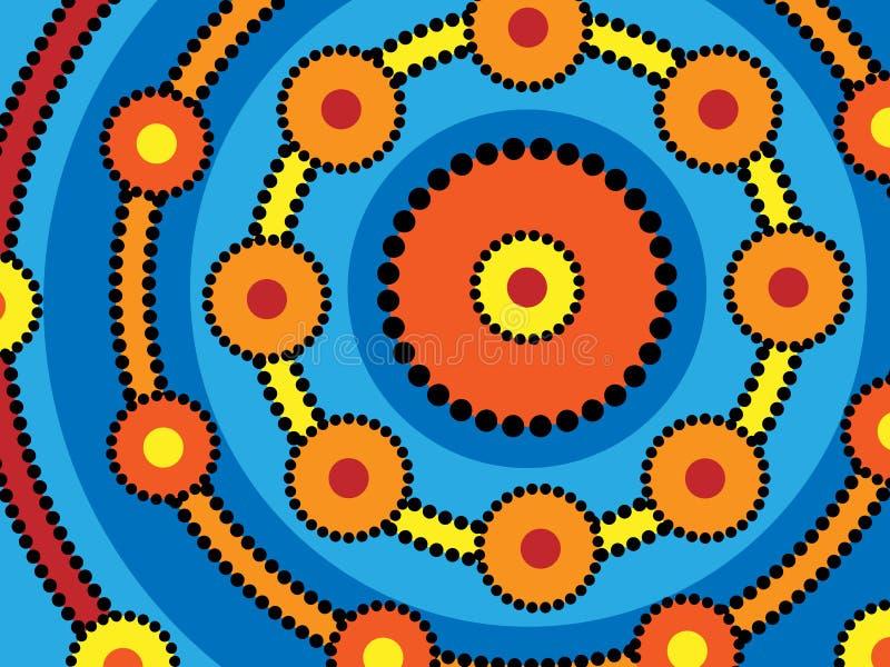 Anéis aborígenes ilustração stock