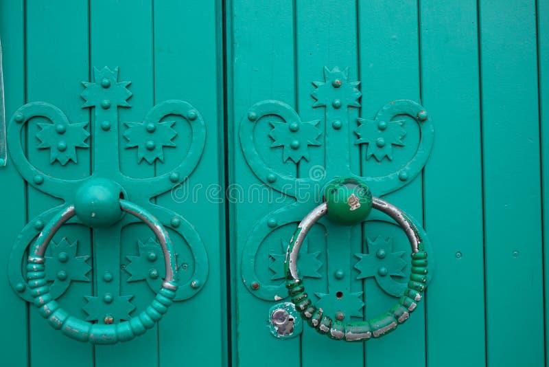 Anéis antigos da porta foto de stock