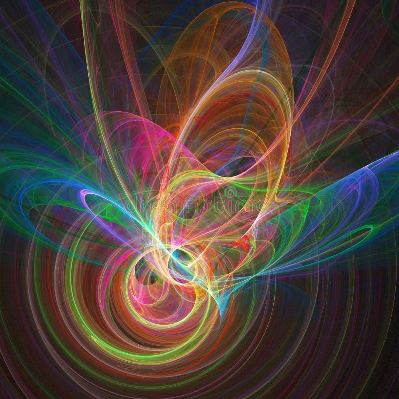 Anéis coloridos do caos ilustração royalty free