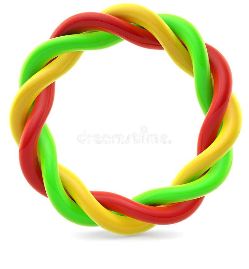 Anéis coloridos torcidos ilustração royalty free