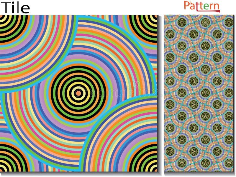 Anéis concêntricos abstraia o fundo Gerado por computador ilustração stock