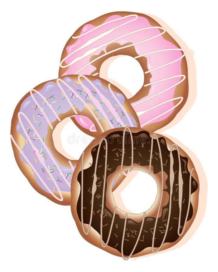 Anéis da filhós ilustração do vetor