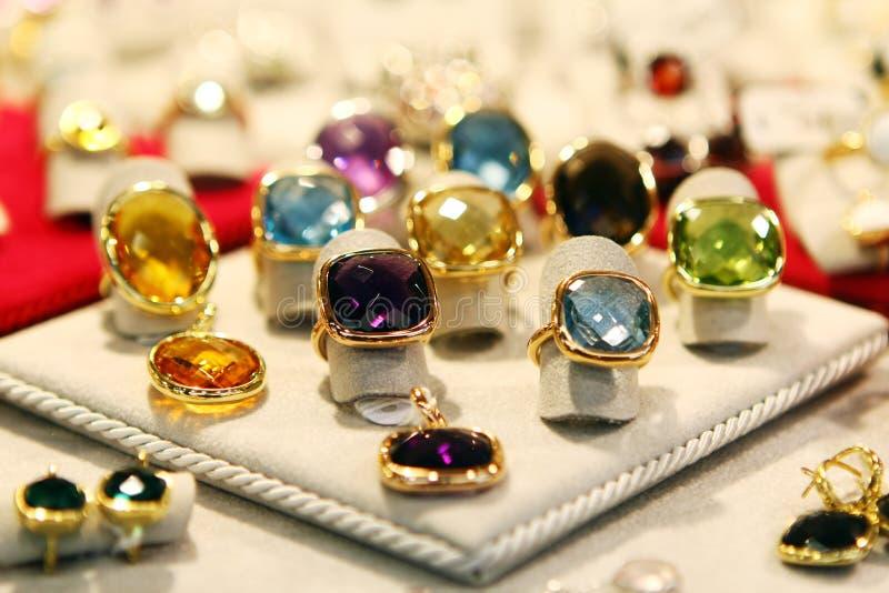 Anéis da jóia fotografia de stock