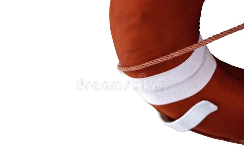 Anéis de borracha vermelhos isolados em um fundo branco fotos de stock