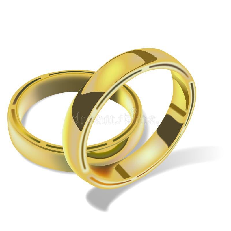 Anéis de casamento 03 ilustração stock