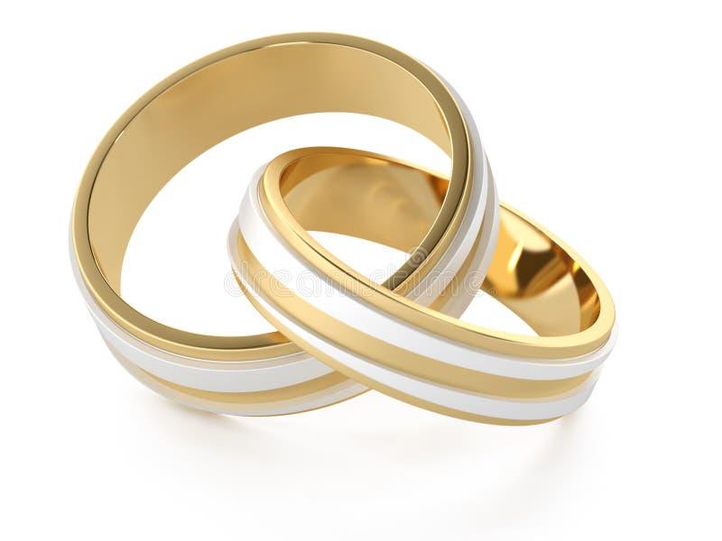 Anéis de casamento ilustração do vetor