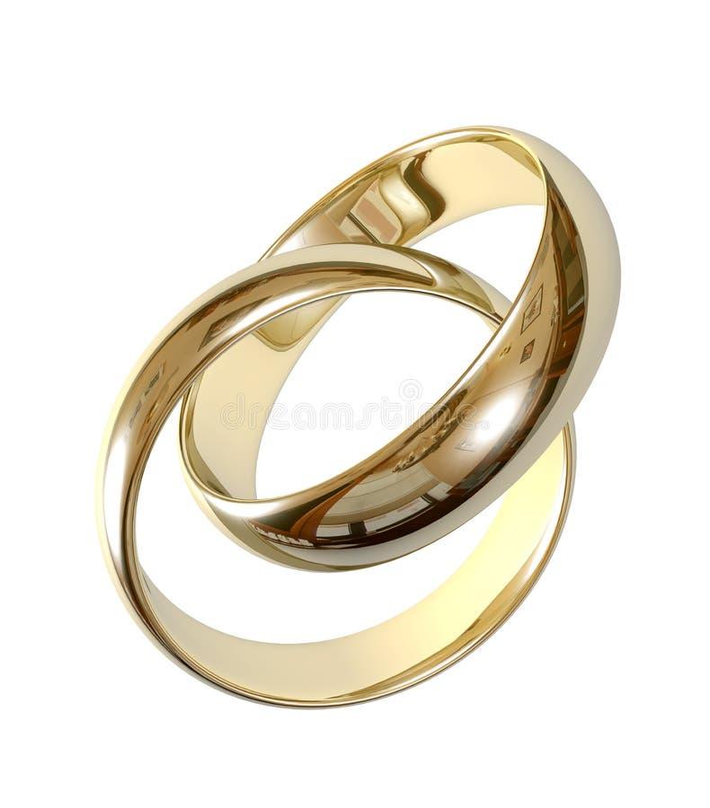 anéis de casamento 3D ilustração stock