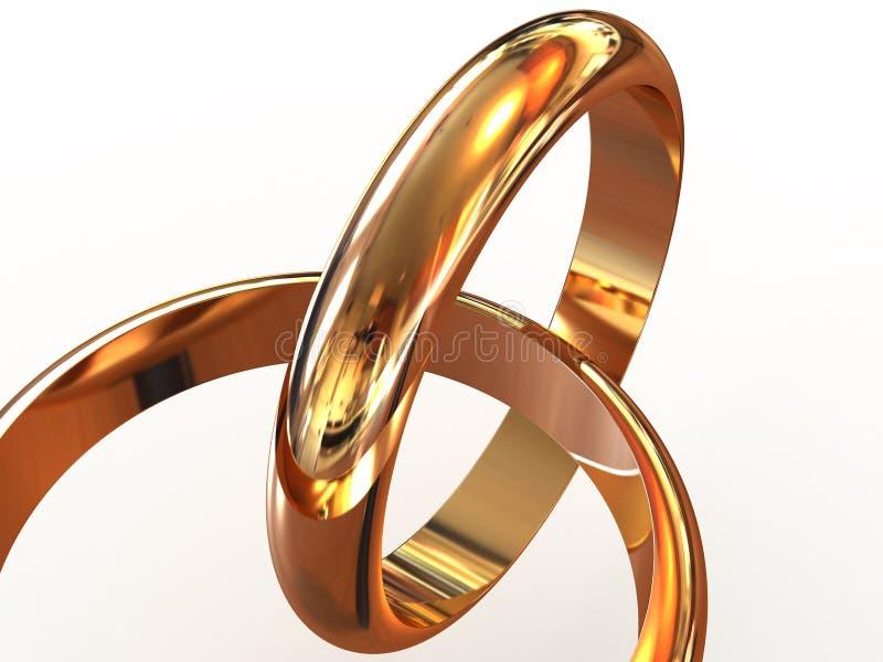 Anéis de casamento. ilustração do vetor