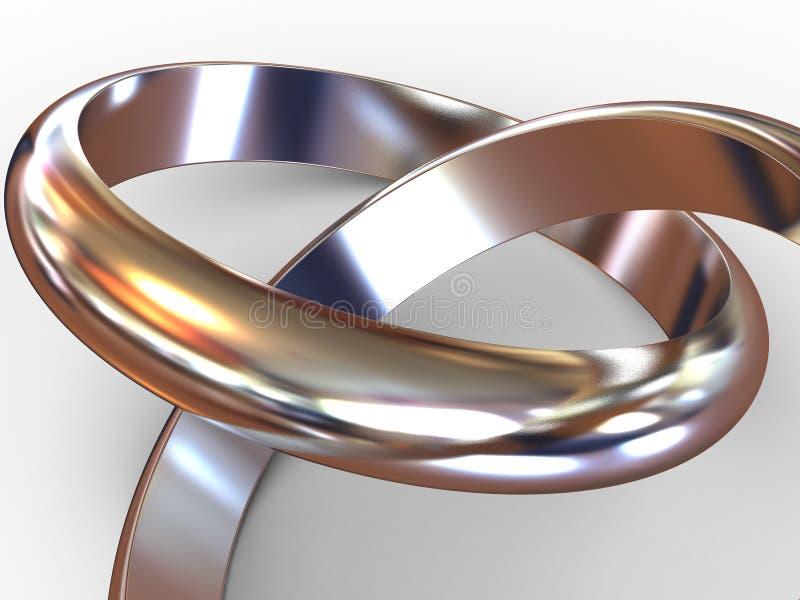 Anéis de casamento. ilustração stock