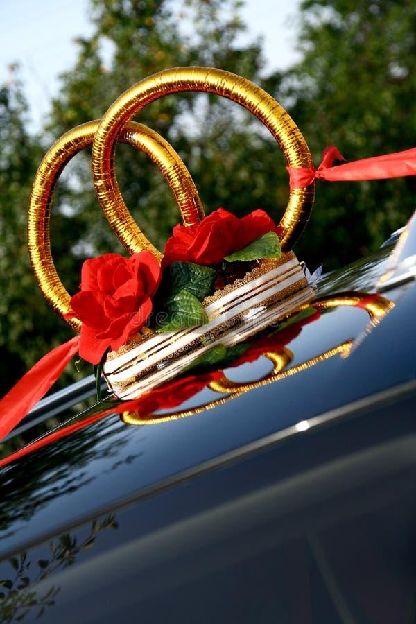 Anéis de casamentos decorativos foto de stock royalty free