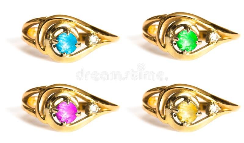 Anéis de diamante imagens de stock royalty free