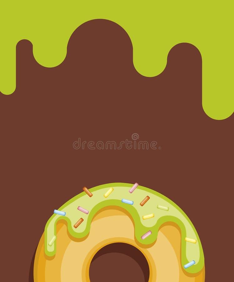 Anéis de espuma coloridos no fundo da cor Coleção dos anéis de espuma da vista superior no esmalte brilhante para cartão ilustração stock