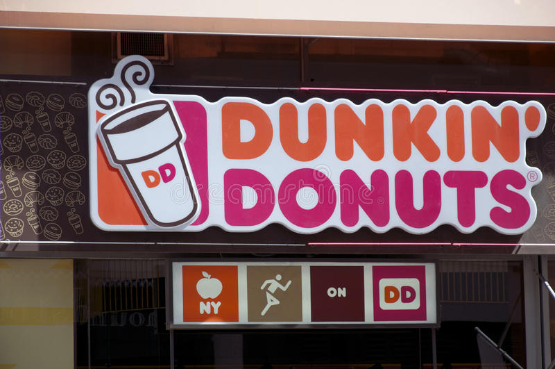 Anéis de espuma de Dunkin foto de stock