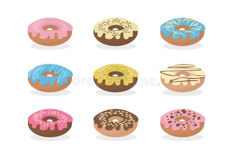 Anéis de espuma doces ajustados ilustração royalty free