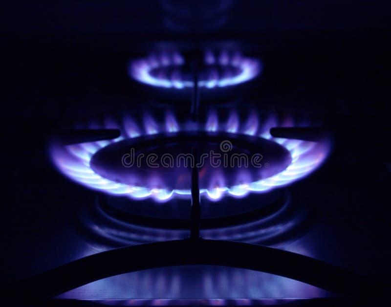Anéis de gás imagem de stock