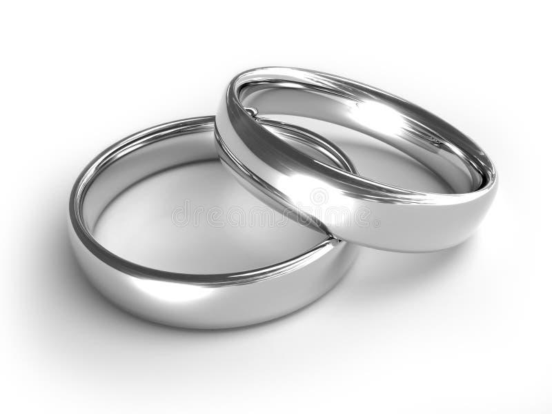 Anéis de prata ilustração do vetor