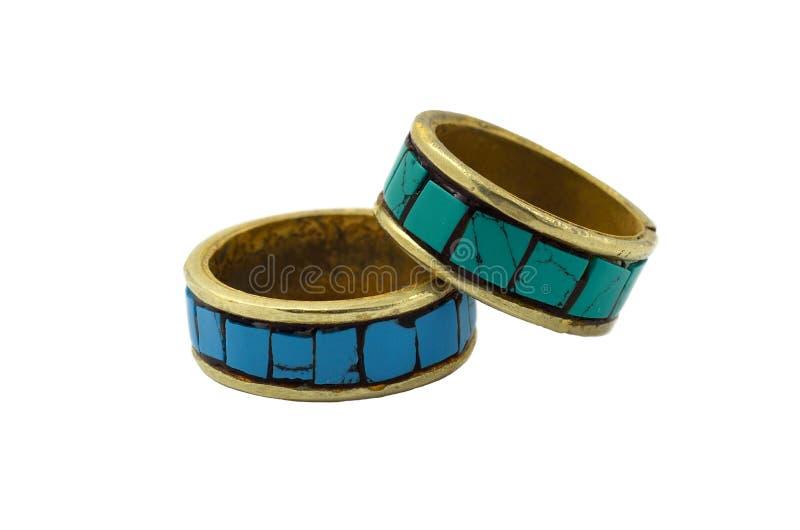 Anéis de turquesa foto de stock