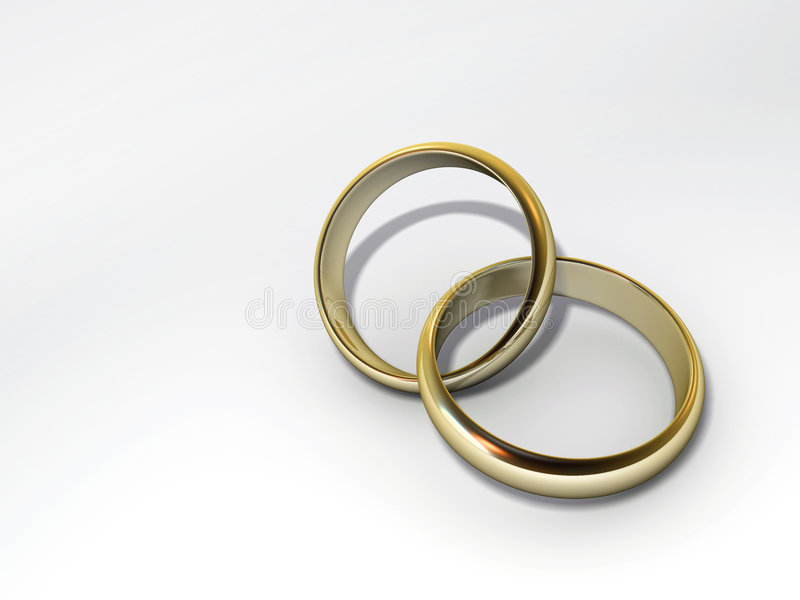 Anéis de Weding ilustração do vetor
