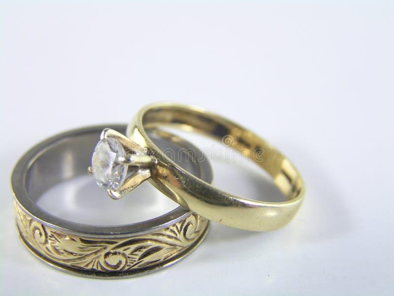 Anéis do amor fotografia de stock