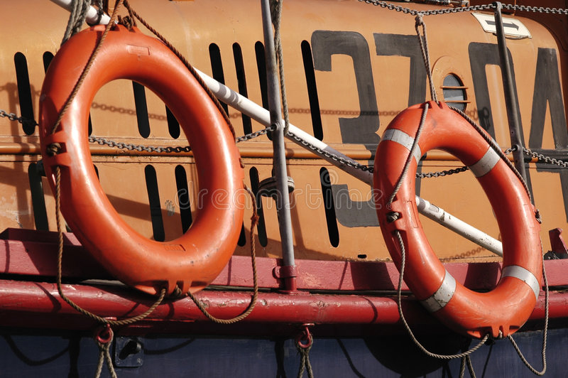 Anéis do barco salva-vidas fotografia de stock royalty free