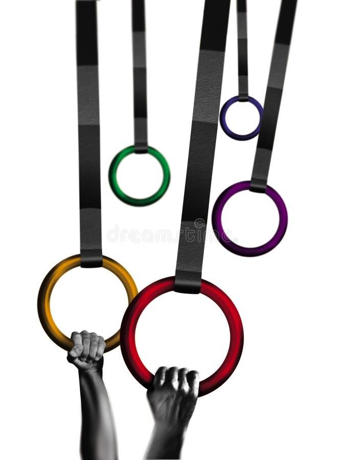 Anéis do Gymnast ilustração do vetor