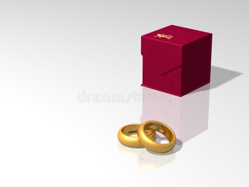 Anéis do presente ilustração stock
