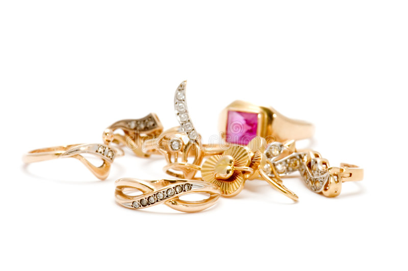 Anéis e brincos fotografia de stock royalty free