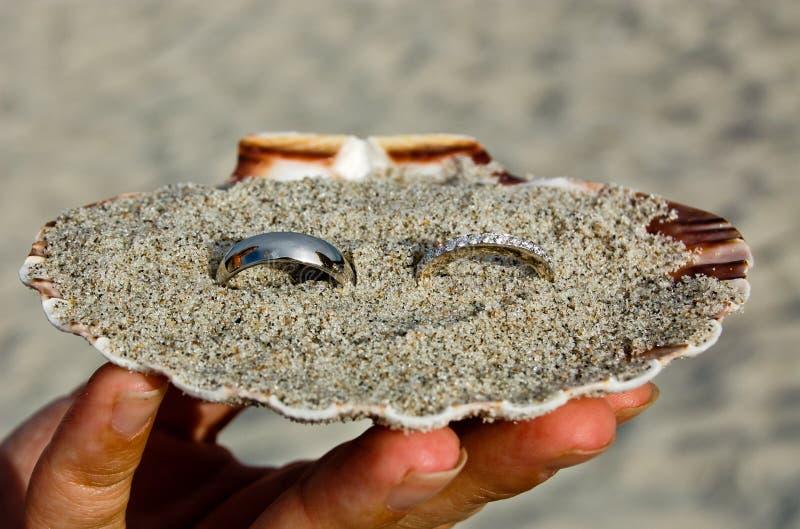 Anéis na areia imagem de stock royalty free