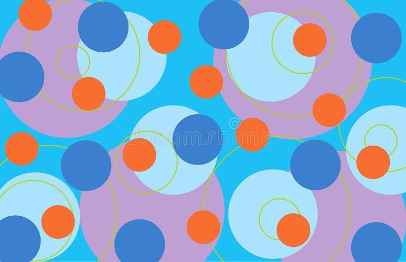 Anéis retros - azul ilustração royalty free