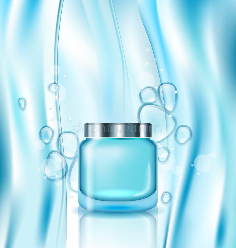 Anúncio cosmético, creme no tubo de turquesa ilustração do vetor